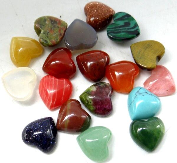 10*10mm טבעי אבן קרושון hart קולב kraal sieraden טייגר עין אוונטורין Geen גת תכשיטי ביצוע תכשיטי necklace50pcs