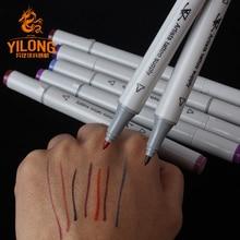 YILONG 8 sztuk/pudło chirurgiczne skóry pomiarowe Marker brwi skórki tatuaż transferu PenTattoo MeasureProfessional punkt akupunktury