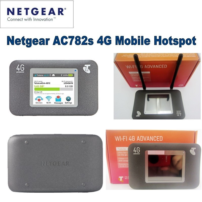 Разблокированный Netgear AirCard 782S lte 4g беспроводной маршрутизатор 4g wifi донгл 5 ГГц мобильный wifi mifi Hotspot pocket plus 2 шт антенна 4g