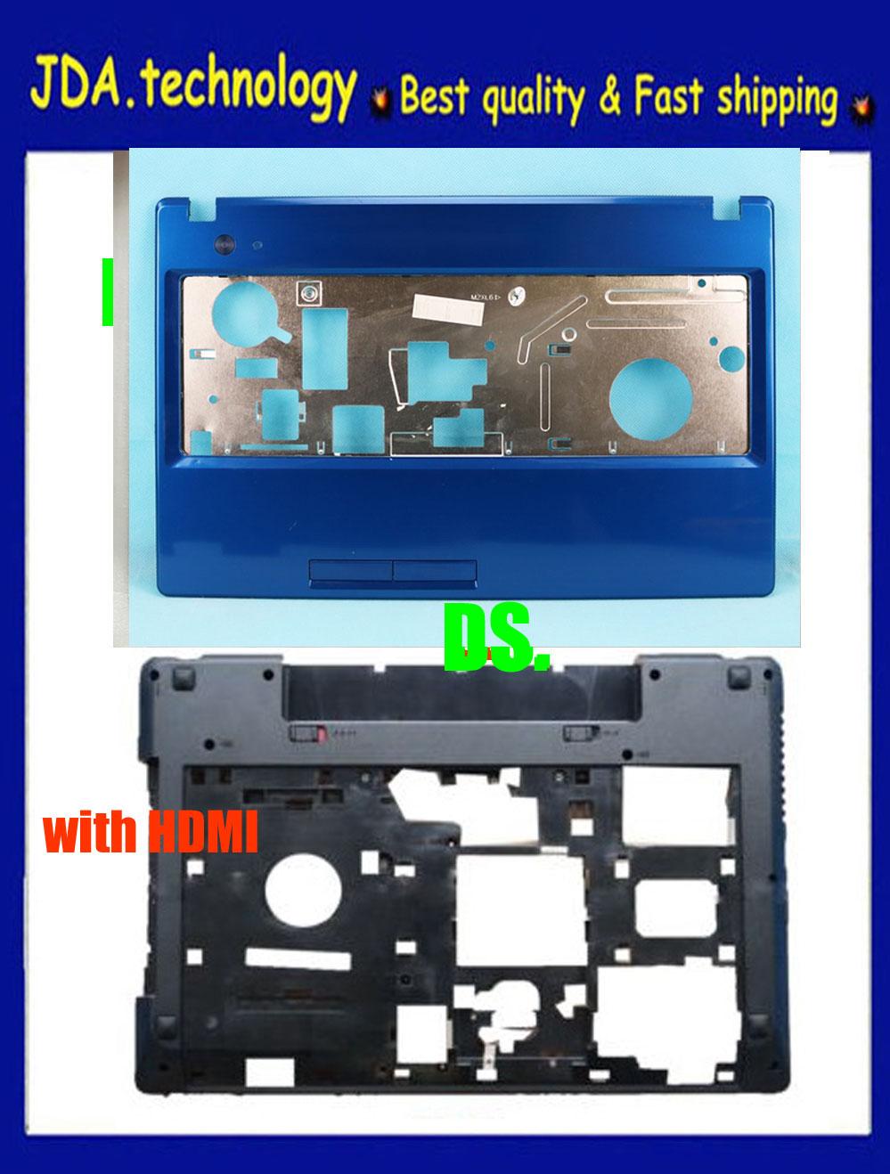 Nuevo/orig carcasa superior para Lenovo G580 G585 cubierta superior con reposamanos + funda de base inferior D cubierta HDMI