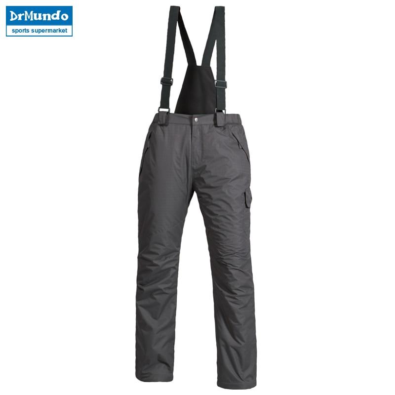 Новые уличные спортивные флисовые мужские лыжные штаны Подтяжки ветрозащитные