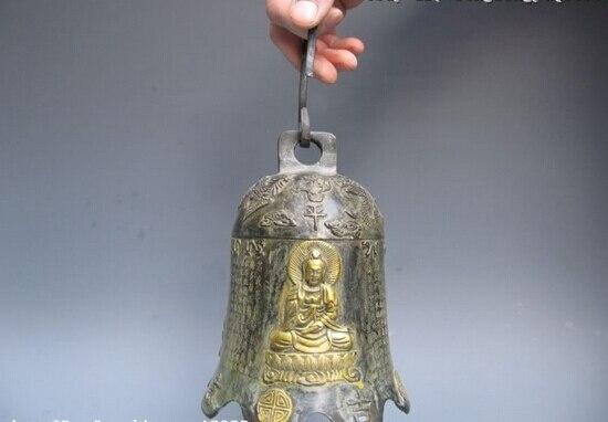 Canción voge joya cenobian S0256 China Folk Fane Bronce Cobre Dragón y fénix Buda campana horometer
