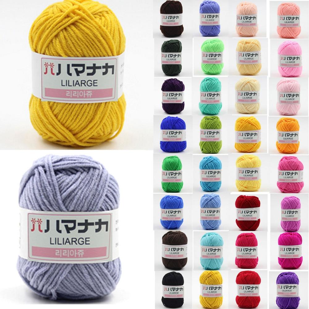 Hot sale 25g 4 ply Colorful Combed Soft Baby Milk Cotton Yarn Natural Fiber Yarn Hand Knitting Wool Crochet Yarn for DIY Sweater