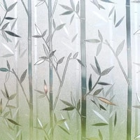 tinted 3d privacy window film no glue static window cling glass film bamboo frosted window films privacy self adhesive film