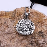 safety knot necklace retro tibetan mandala spiritual amulet pagan wiccan talisman religious jewelry for man and woman gift