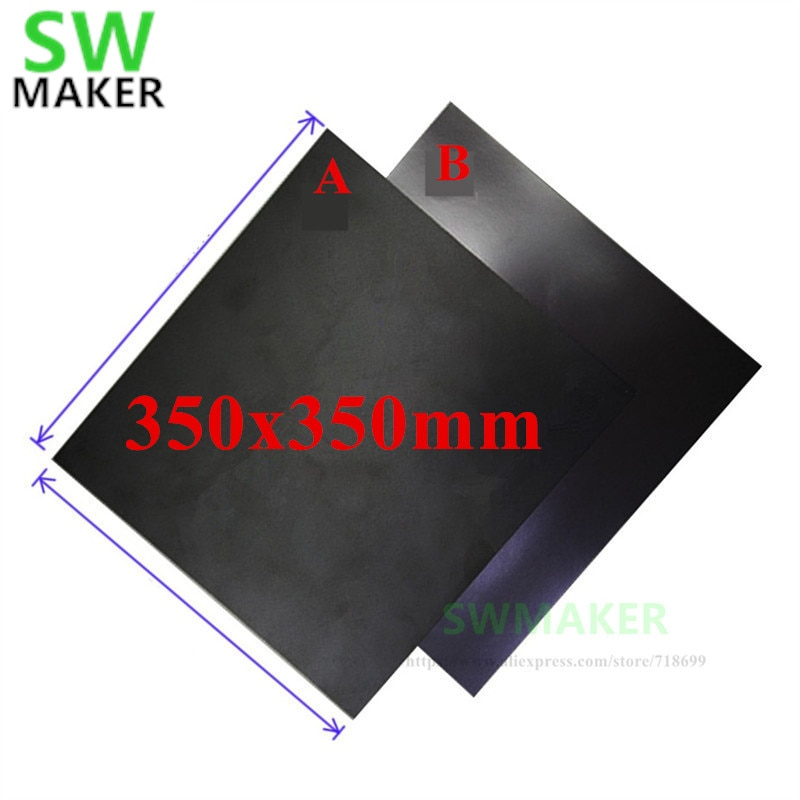 350x350mm magnetyczna taśma Flex budować z 3 M taśma do majsterkowania Voron 2.1 3D drukarki doskonale nadaje się do PLA drukowanie