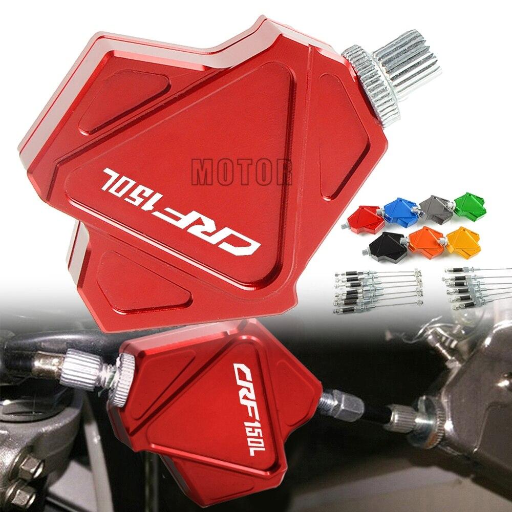 Para Honda CRF150L 2018 CRF150 FCI 150L 150 L de la motocicleta CNC Motocross suciedad Pit Bike palanca de embrague para acrobacias sistema de cable de tracción fácil