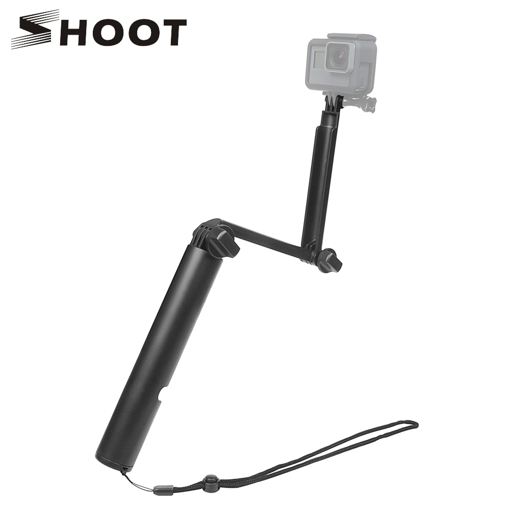 Селфи-палка SHOOT 3 Way Grip, монопод для GoPro Hero 8 7 5 Black Xiaomi Yi 4K Dji Osmo Sjcam Sj8 Eken Go Pro Hero 7, аксессуары