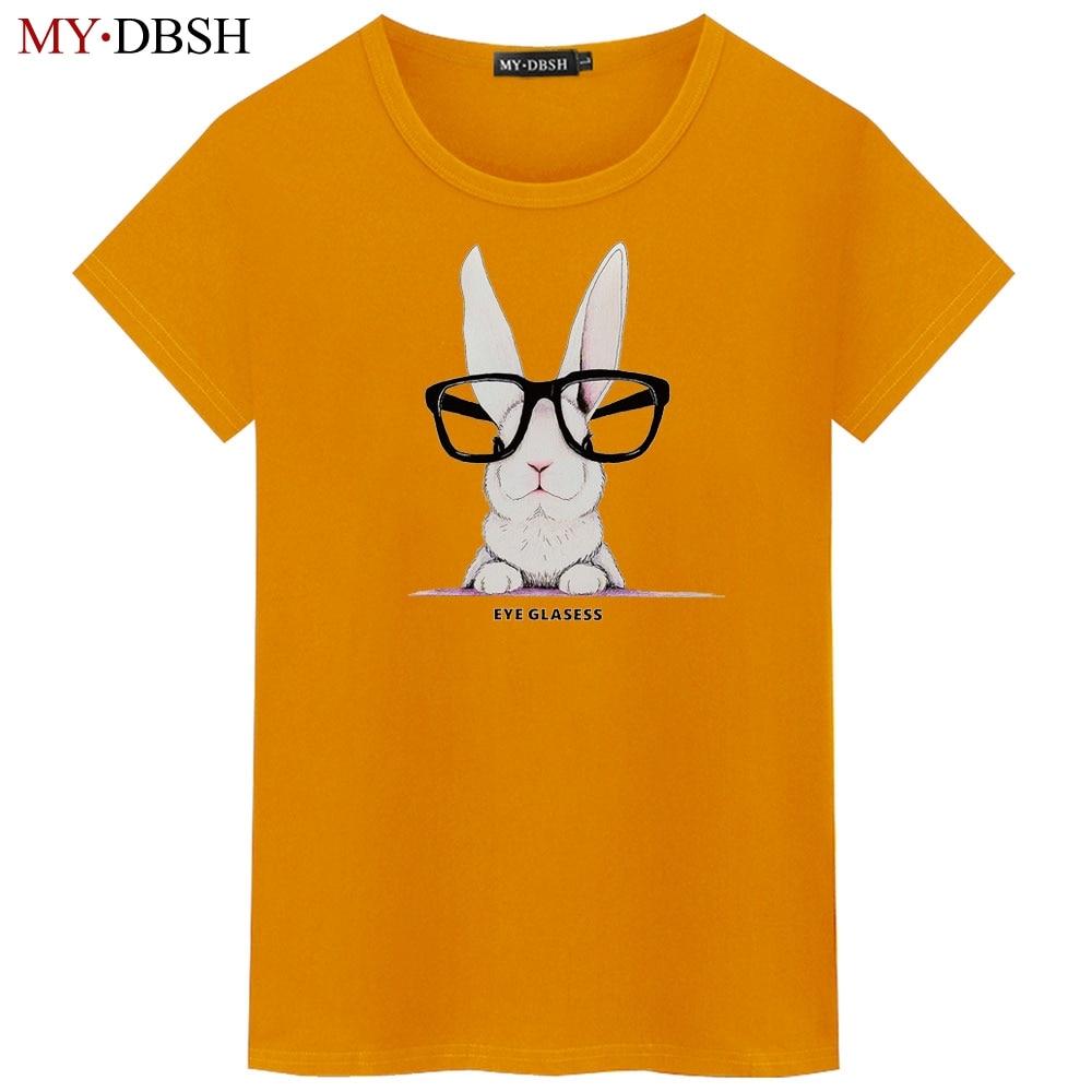 Nowe męskie królik drukuj Cartoon T Shirt moda Harajuku 2019 letnie koszulki z krótkim rękawem Casual koszulki dla mężczyzn Plus rozmiar 5XL