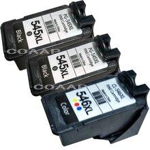 3 pack Canon PG545 CL546 compatible cartouche dencre pour Pixma MG2580 MG2950 MX495 Imprimantes PG-545 CL-546 XL