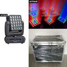 (Flycase)LED array for spotlights movinghead 25x12w dmx rgbw matrix moving head 5x5 light road case