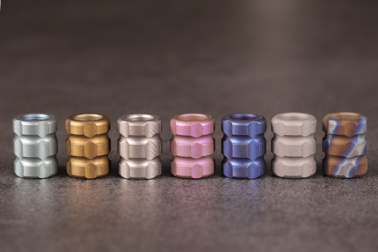 Colorful Series Of Titanium Alloy Knife C Pendant Umbrella Rope Fall Outdoor Knife Pendant Phone Pendant EDC Paracord Beads