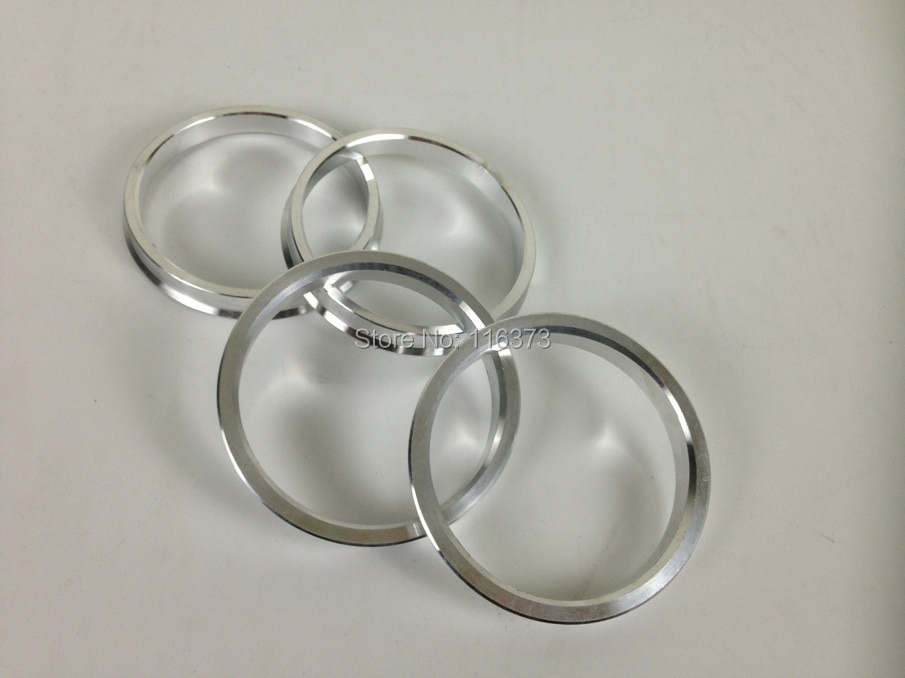 4 Pcs Silber Universal Aluminium Hub Centric Ring Rad Spacer Set O/D 76mm I/D 54.1/66.1/72,56 MM