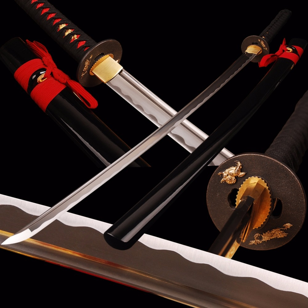 SHI JIAN Swords Handmade Japanese Samurai Katana Sharp Full Tang Sword 1060 Carbon Steel Cutting Practice Espada Katana