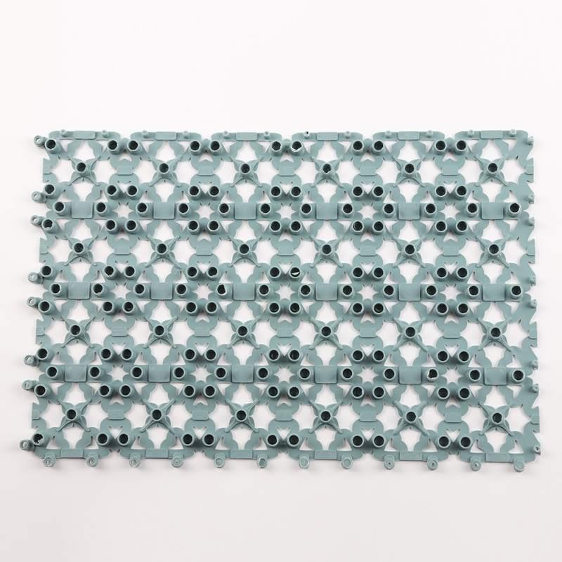 Manta de masaje de ducha de alfombra de baño con costura de amor de Color caramelo
