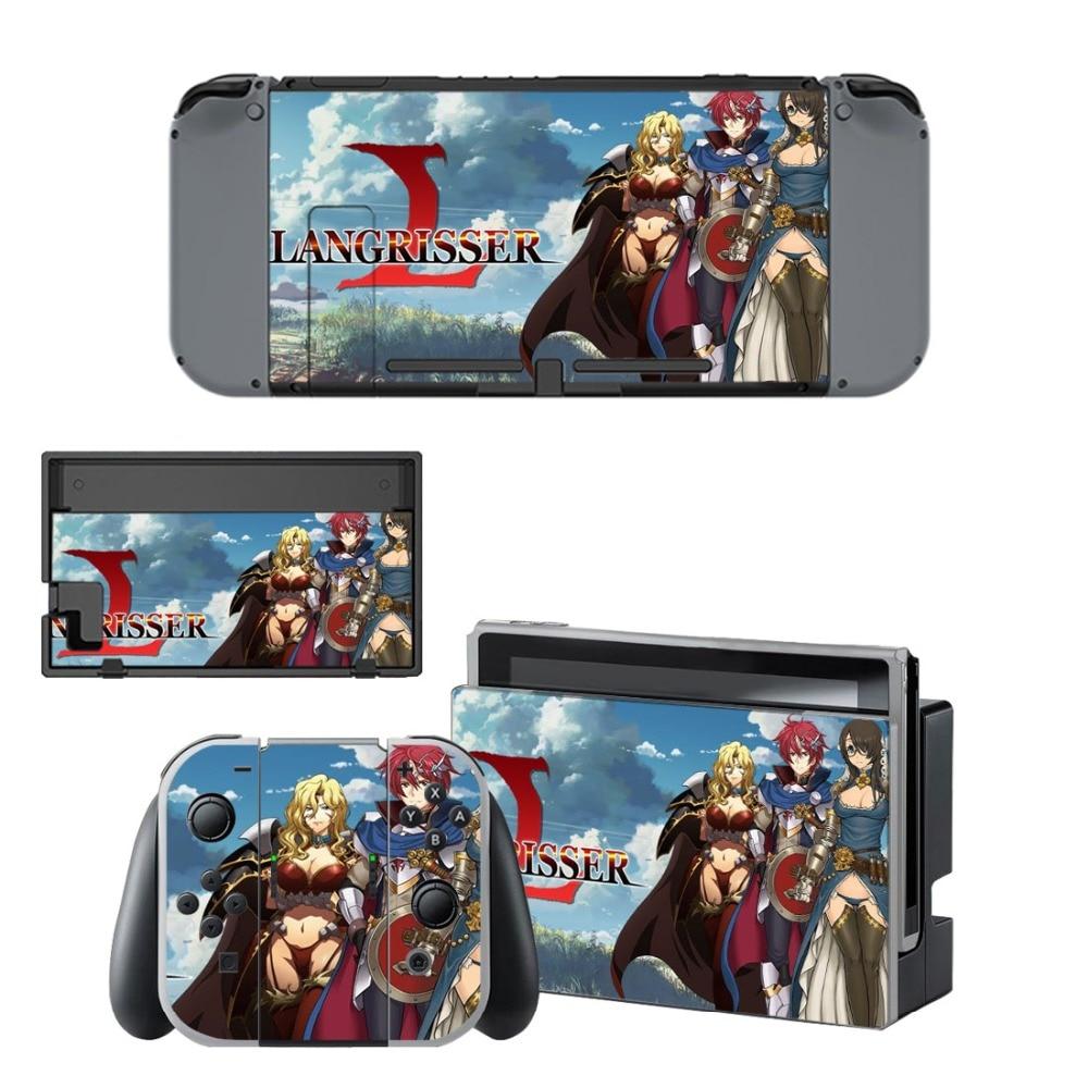 Langrisser piel etiqueta engomada vinilo para NintendoSwitch pegatinas pieles para Nintendo Nintend Switch NS consola y mandos Joy-Con