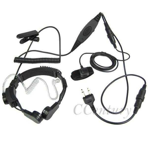 XQF pesado deber táctico garganta micrófono tubo de aire auriculares PTT del ICOM jamón Walkie Talkie Radio de IC-A1 IC A2 IC-A3 a6 IC-F3GS