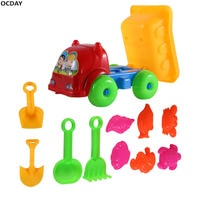 Kids Creative Beach Toys 11Pcs/set Children Playing Truck Sand Dredging Toy Set Play Game Educational Toy Gift For Kids new year