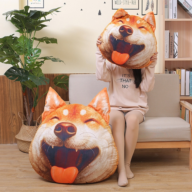 New Hot 3D Corgi or Shiba Inu Dog Plush Toys Dolls Stuffed Animal Pillow Sofa Decorative Creative Birthday Gift