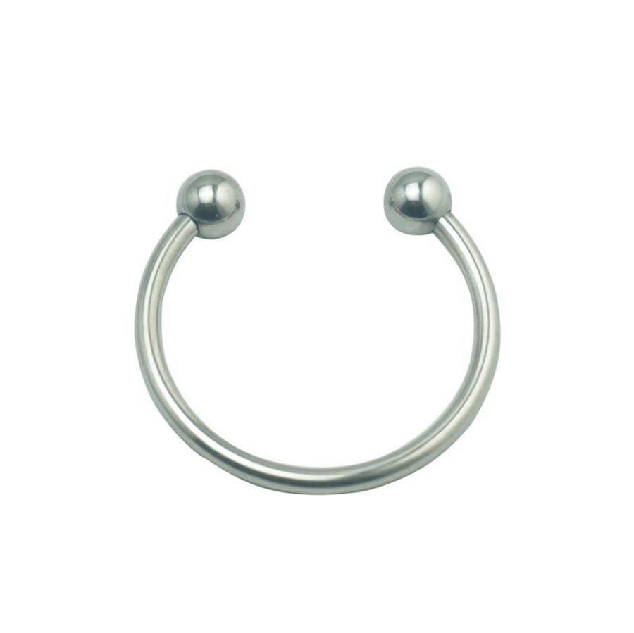 Двойной шар из нержавеющей стали головка члена кольцо для пениса секс увеличение