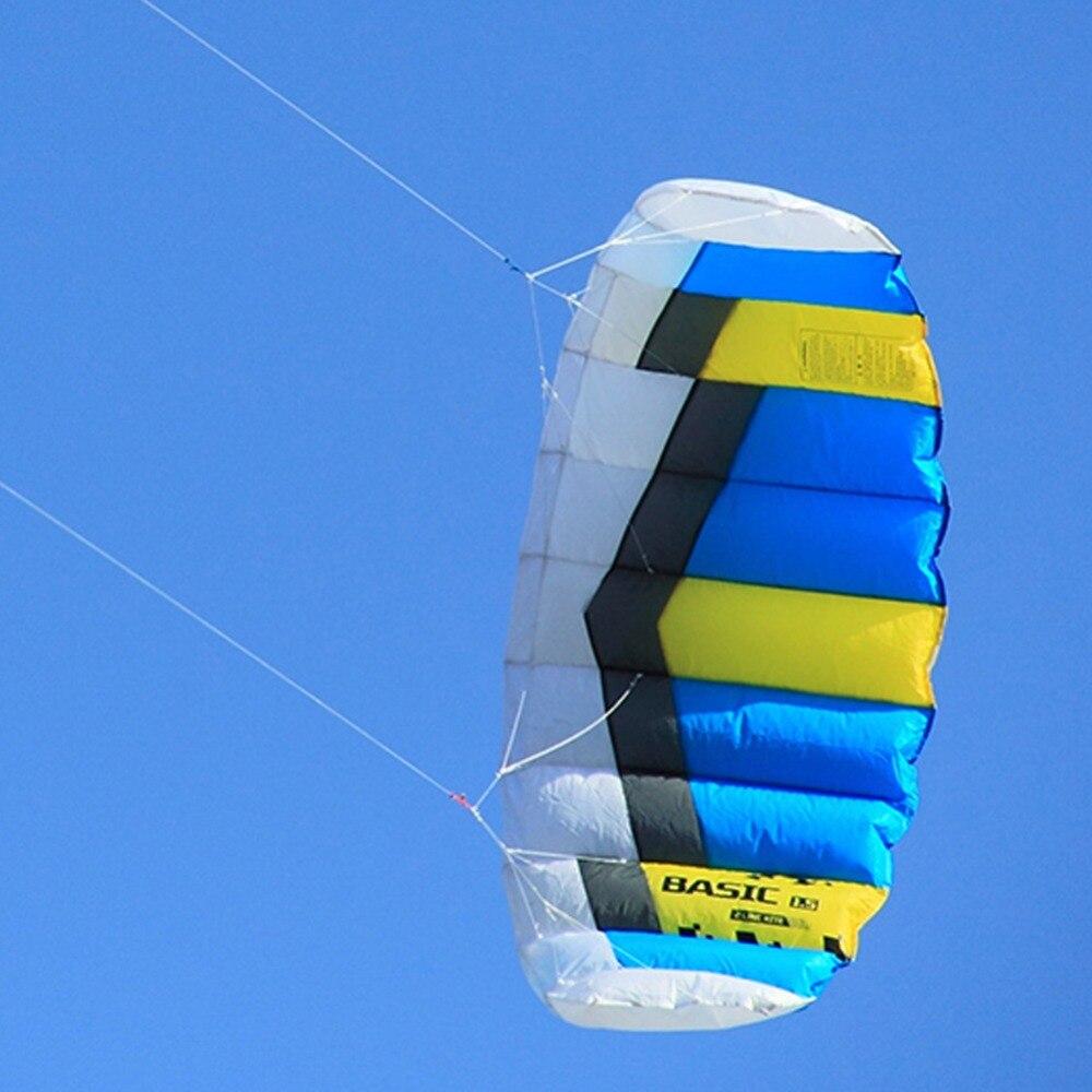 Basic 1.5sqm pipa de praia voando power kite dupla linha esporte ao ar livre stunt kite com kite string alça de pulso