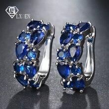 LXOEN 2018 классические серьги-гвоздики из полудрагоценных камней для женщин Серебристые круглые шпильки ювелирные изделия brinco подарок bijoux