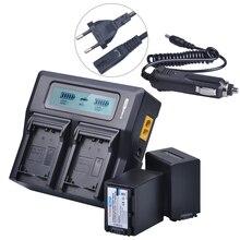 2x4500 mAh NP FV100 NPFV100 FV100 NP-FV100 Batteria + LCD Caricatore Rapido per SONY NP-FV30 NP-FV50 NP-FV70 SX83E SX63E FDR-AX100E