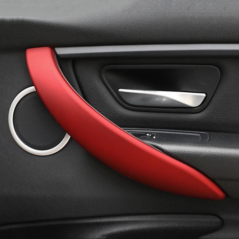 Car Styling Auto Door Handle Decoration Cover Trim Doorknob Stickers For BMW 3/4 serises F30 F32 3GT F34 Interior Accessories
