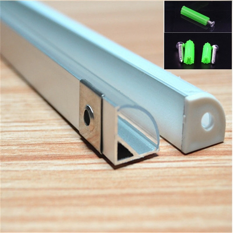 20pcs/lot 100 inch 2.5m led aluminium profile  for 10mm strip ,led 45 degree corner bar light ,semi round tape light channel