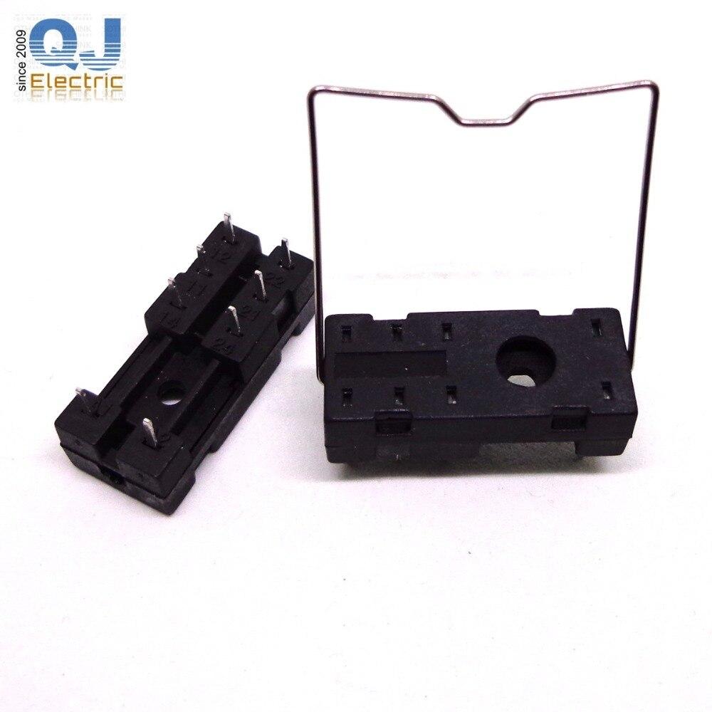 Relé PCB hembra 14F-2Z-A2 para G2R-1 G2R-2 G2R-1-E RT424024 HF115F 5PIN o 8PIN zócalo de relé nuevo y original