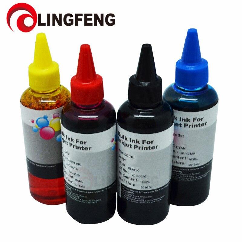 Printer Ink Ciss Ink Refill kit for Epson for Canon for Brother for HP Inkjet Printer 100ml*4C Dye Ink Universal Bulk ink