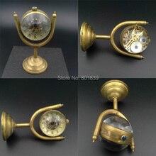 Crystal Ball Watch Bronze Tone  Skeleton Clock Nice Xmas Gift  Wind Up Mechanical Watch Wholesale Price H040