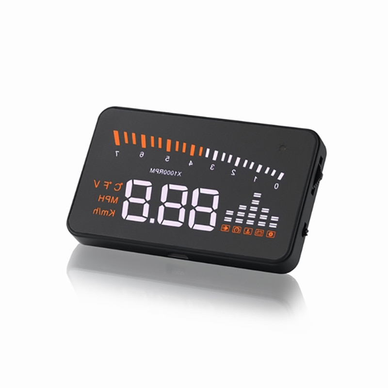 X5 3.5 Inch Simple Function OBD2 HUD Head-Up Display Projection Multi-color Car Trucks