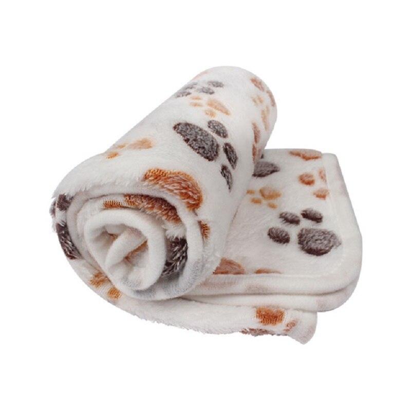 Manta suave para mascotas, manta de cama para perros para gatos huella de pie, colchón para dormir cálido, pequeño, mediano, Coral, no se destiñe, suministros para mascotas sedosas fácilmente