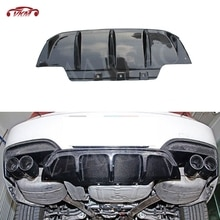 Tabliers pour BMW série 6 F12 F13 F06 M6 2013-2016 diffuseur arrière en Fiber de carbone   Pare-choc à lèvres