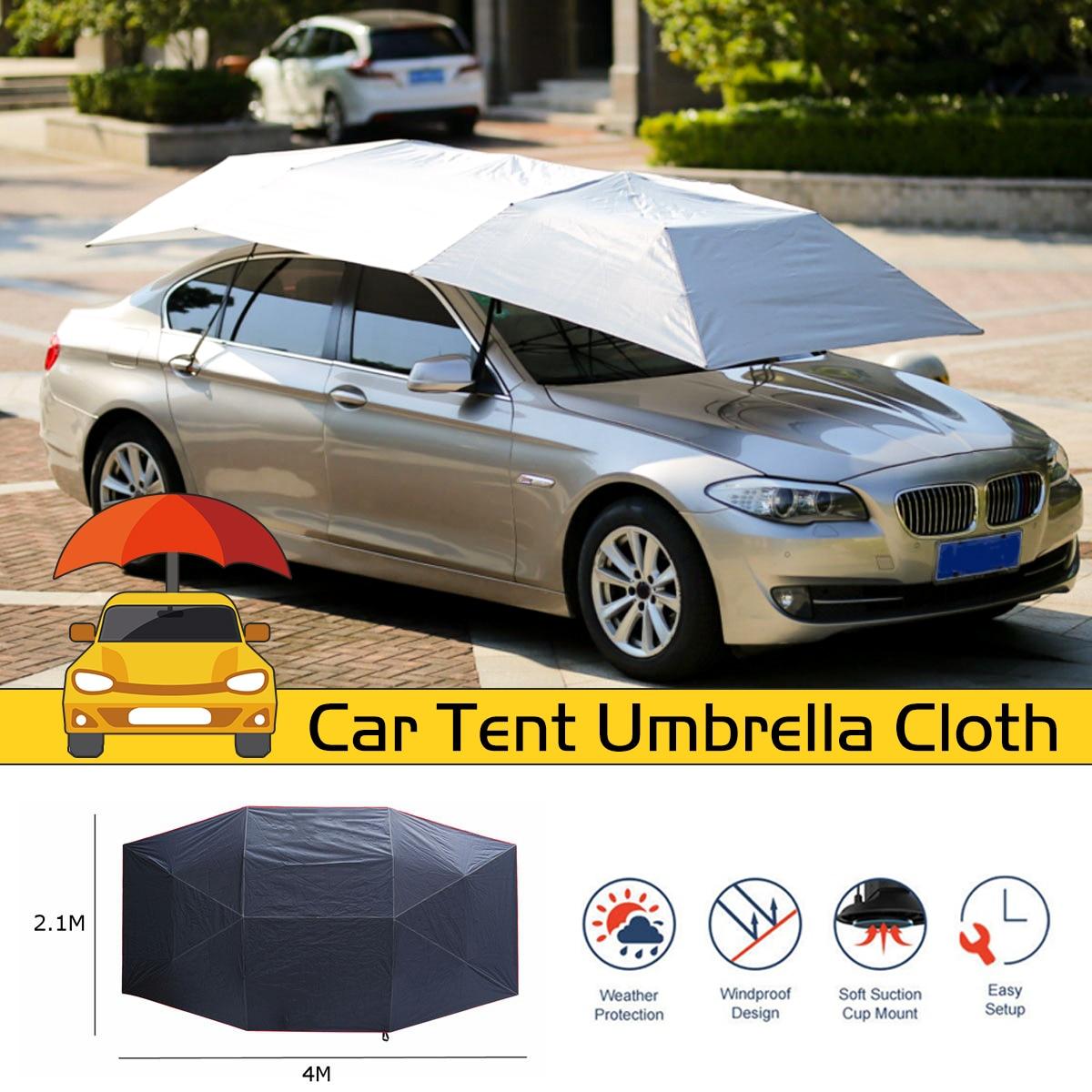 Anti UV impermeable, automática, completa, para exteriores, coche, carpa, sombrilla, cubierta de techo, sombrilla de coche, sombrilla de tela reemplazable