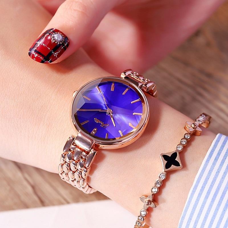 Luxury Purple Diamond Dial Women Watches Ladies Elegant Casual Quartz Watch Woman Dress Watches Clock Women relojes para mujer enlarge