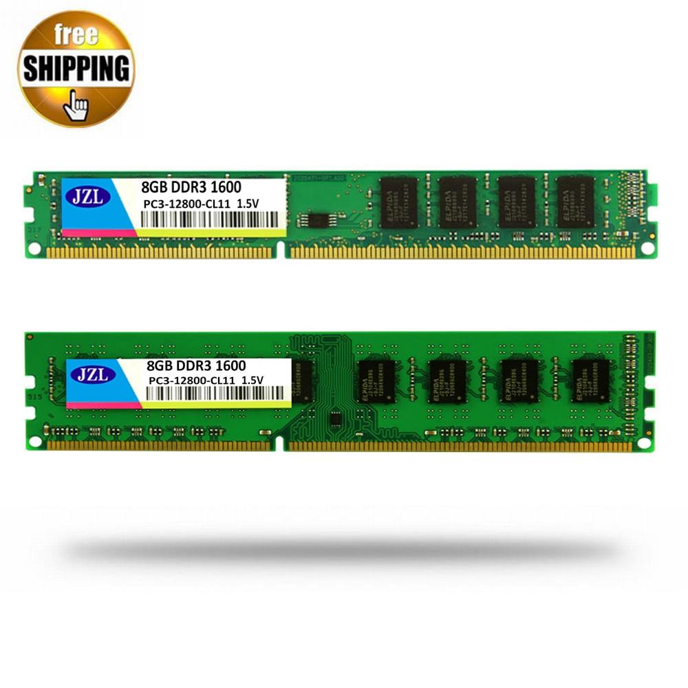JZL ميموريال PC3-12800 DDR3 1600 MHz / PC3 12800 DDR 3 1600 MHz 8GB LC11 240 دبوس سطح المكتب PC الكمبيوتر DIMM الذاكرة RAM ل AMD CPU