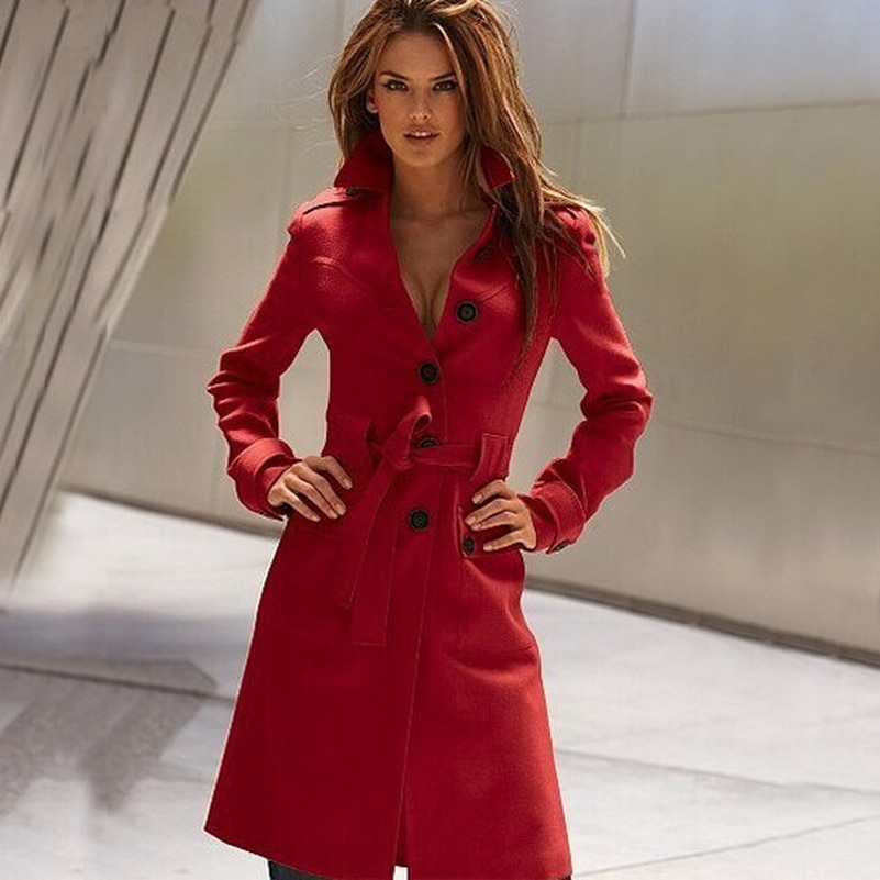 Casacos de mangas compridas, casacos de mangas compridas da moda de inverno, cor sólida, para mulheres, casaco com cinto, elegante, longo, jaqueta de inverno
