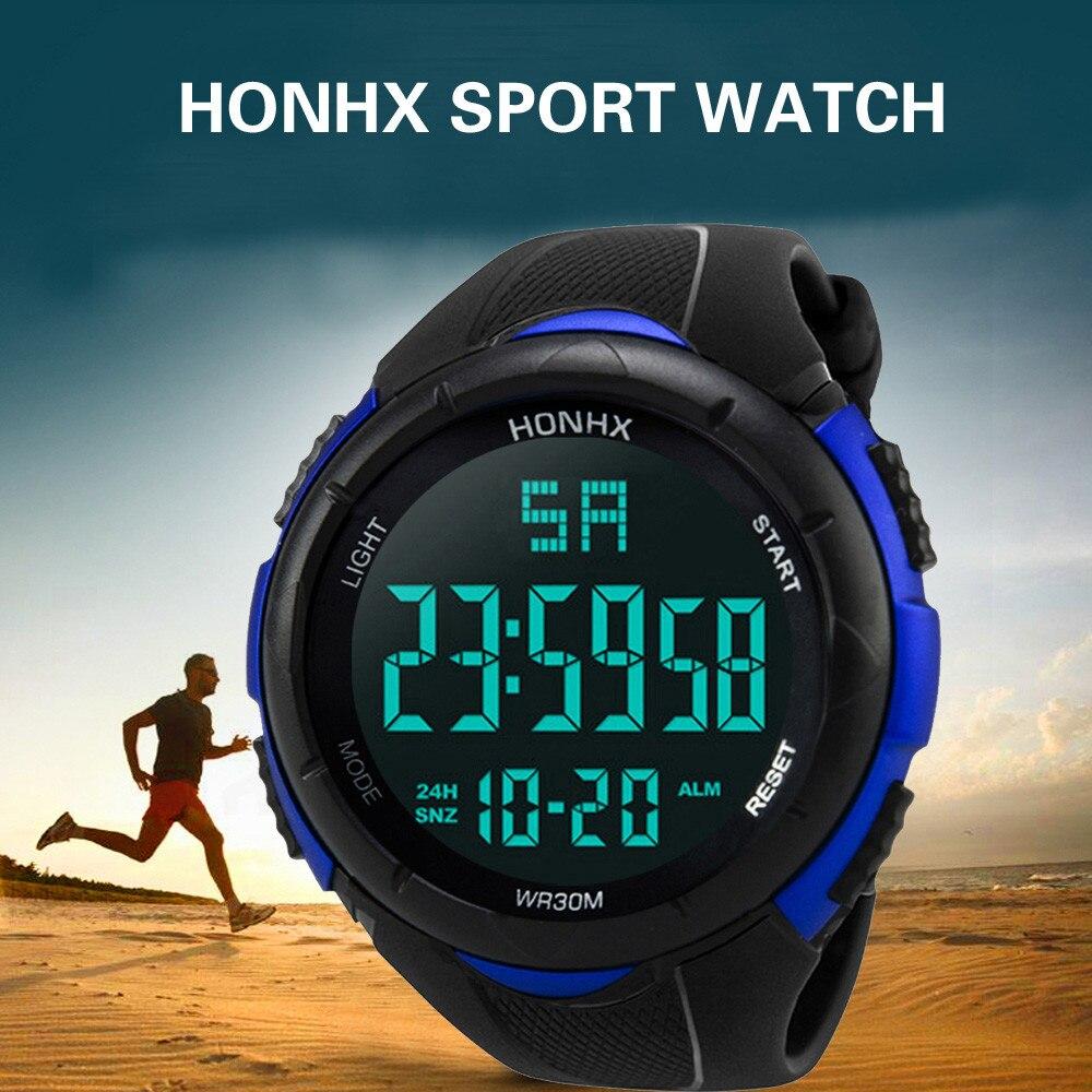 Reloj deportivo HONHX de lujo para hombre, reloj de pulsera analógico Digital militar de silicona, deportivo, LED, resistente al agua, reloj Masculino F610