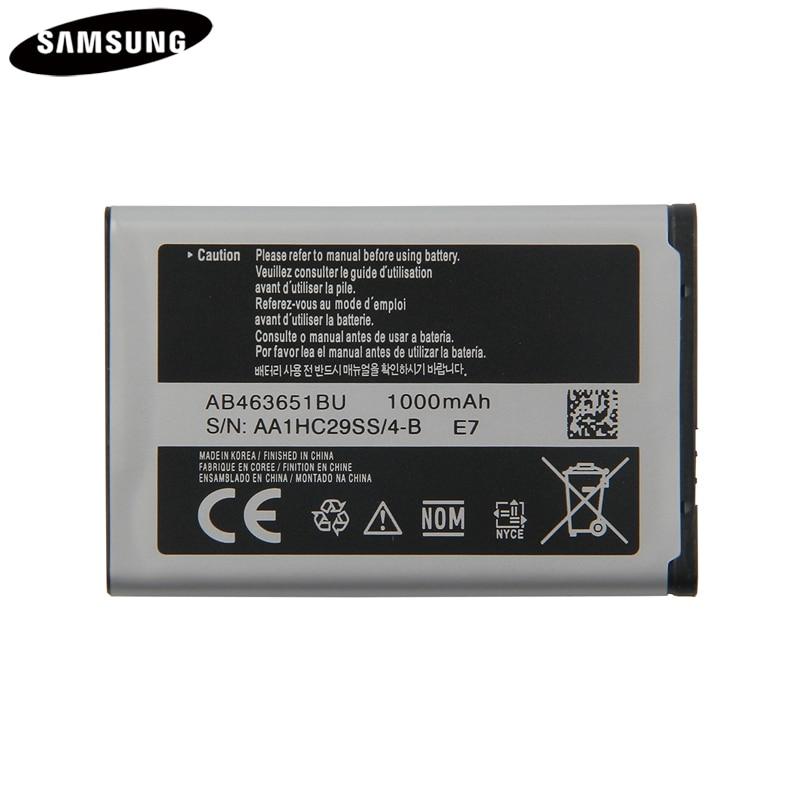 Оригинальный аккумулятор AB463651BU для Samsung S5630C C3782 S5560 C3370 C3518 J800 J808 F339 S5296 L700 W559 S5628 B3410 L708E SGH-L700
