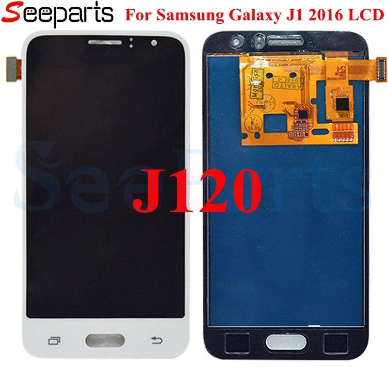 "Para SAMSUNG GALAXY J1 2016 LCD J120M J120F J120 pantalla MONTAJE DE digitalizador con pantalla táctil reemplazo para 4,5 ""SAMSUNG J1 2016 lcd"