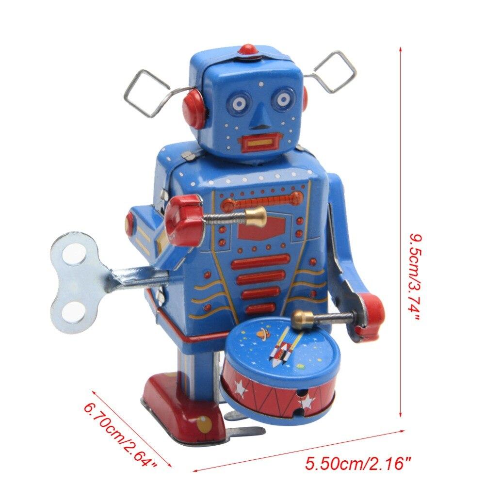 Robot de juguete Vintage de Metal para caminar para niños, juguete coleccionable,...