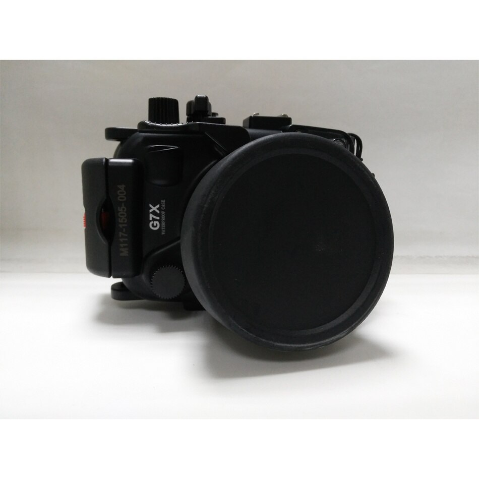 Meikon 40 M 130ft עמיד למים דיור מצלמה מתחת למים מקרה עבור Canon G7X (8.8-36.8mm)