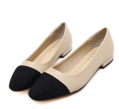 Zapatos planos de mujer CC marca zapatos de mujer Baotou zapatos planos con tacones altos talla 34-43