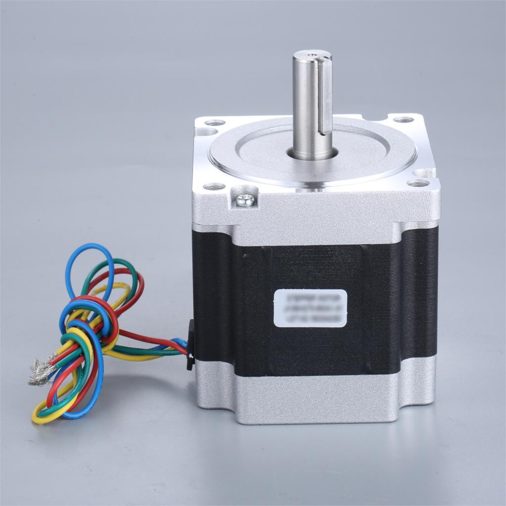 ¡NEMA34 86x155mm CNC Motor paso a paso 6A 13N! motor de paso Bipolar m/1831.0oz.in Nema34 4 cables para impresora 3D/máquina de grabado CNC
