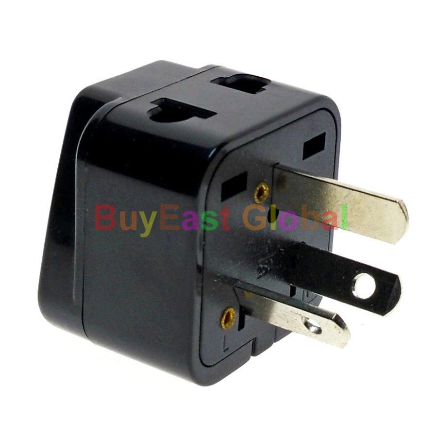 2 en 1-Adaptador de enchufe eléctrico Universal a AU, China, Nueva Zelanda,...
