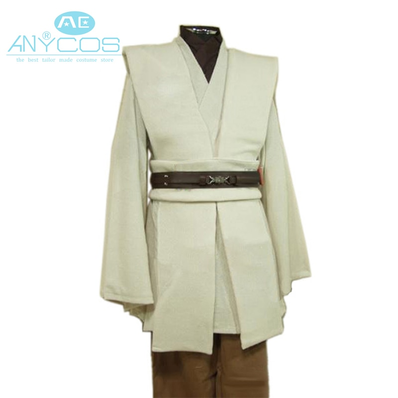 Adulto estrela cosplay guerras traje obi wan kenobi traje jedi cosplay traje manto trajes de halloween para adultos