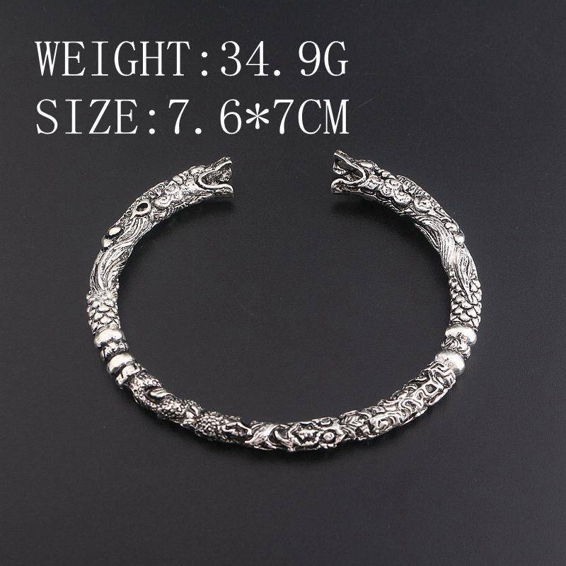 2017 New Viking Steampunk Biker Wolf head dragon head Men Women Bracelets & Bangles Cosplay talisman Jewelry Bangles wristlet