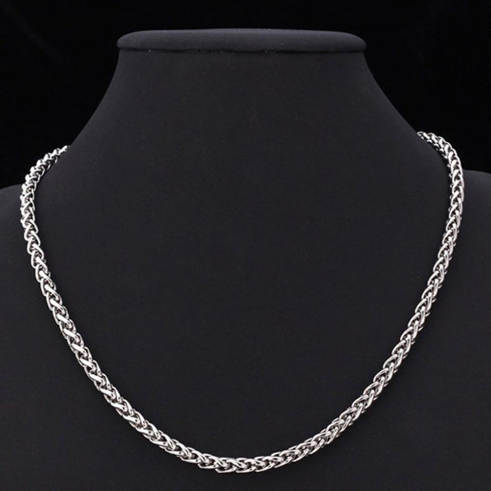 Collar de cadena de oro plateado de 19-27 pulgadas con cierre de langosta, collar de acero inoxidable Unisex a la moda, estilo Punk, joyería para niño con estilo, nuevo